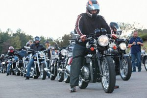 Triumph dealers welcomed the amount of ride time offered aboard the 2014 models.