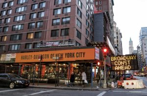 Harley-Davidson of New York City's newest dealership is located in Tribeca, on the corner of Broadway and White.