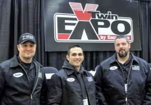Owner-operators of the newly formed 7th Gear Motorcycle Co., in Albany, Ore., made their debut trip to V-Twin Expo in Cincinnati: Justin Lowther, Paul Saminto and Don Stefanic.