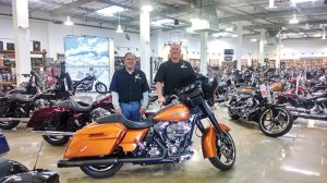 Craig Franz (right) and business partner Rick Jelke of Huntington Beach Harley-Davidson are the latest dealers to expand via a move to a new location.