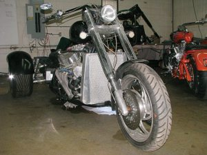 Sabertooth has developed its first WildCat trike, which will hit the market in 2015. Though this prototype features a Ford racing V-8 motor, the production model will be powered by an 850cc Weber engine.
