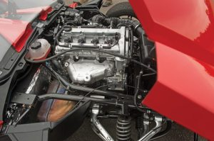 Polaris unveiled the Slingshot on July 27 at its dealer meeting in Minneapolis.