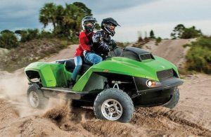 The 2-Up Quadski XL, which became available in dealerships in late June, has an MSRP of $47,650.