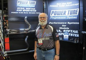 Bruce Tessmer, marketing projects coordinator for S&S Cycle, unveiled the latest products from S&S Cycle at V-Twin Expo.