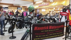 Maverick Motorsports of Missoula, Mont., brought 12 units to the well-attended mall event that featured local dealerships.