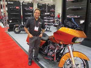 Eddie Terejas, customer service director at Vance & Hines, said dealers at V-Twin Expo were excited about the brand's 2015 products.
