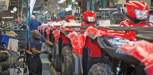 Suzuki Manufacturing of America Corp. celebrated 14 years of ATV assembly earlier this year.