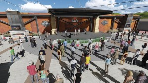 Renderings from FourFront Deisgn, Inc., show the plans for the Harley-Davidson Rally Point, a year-round plaza for the city of Sturgis. The Rally Point is projected to be open before the 75th annual Sturgis Rally begins Aug. 3.