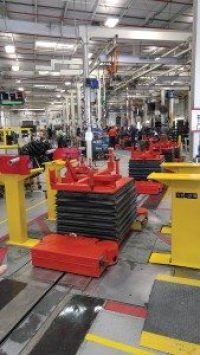 Since the Bad Boy production line is one of the newest at TSV's Augusta, Ga., headquarters, it includes newer, more ergonomic equipment for employees.