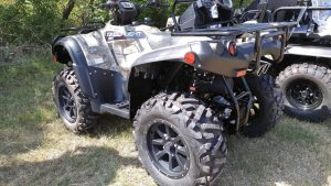 The Onslaught, Bad Boy's first ATV, was shown exclusively to Powersports Business in late July. The gas-powered ATV will be hitting dealerships in late August or early September.