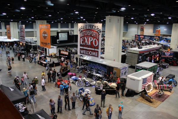 The Ray Price Motorsports Expo coincides with Bikefest, attracting hundreds of custom bike builders competing in this IMBBA sanctioned event.