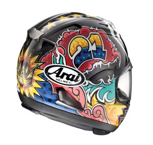 The Arai Corsair-X will be available in October, with a $969.95 MSRP for graphic options.