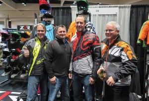 (From left) Steve Weir, Jimmy Rauser, Brandon Mueller and Jay Savignac posed for photo op in new Arctiva gear.