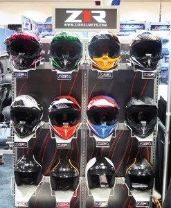At the Parts Unlimited NVP in Madison, Wis., Z1R displayed its new Roost SE top-selling off-road helmet alongside the Jimmy helmet.