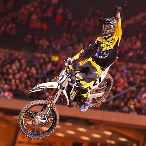 Jason Anderson earns the first 450SX victory for Husqvarna at Anaheim 1