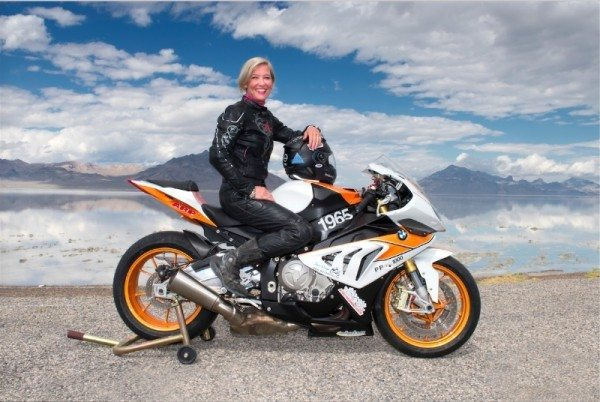 Facebook Executive and 12-Time Motorcycle Speed Record Holder Erin Sills Races to 219.3 MPH on Her BMW S1000 RR, Announces San Diego BMW Motorcycles (PRNewsFoto/San Diego BMW Motorcycles)