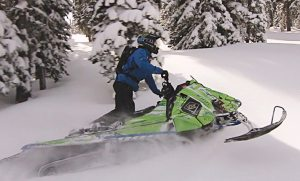 Camso's new mountain snowmobile track achieves new levels of traction, flotation and agility in deep snow conditions.