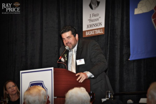 Ray Price was posthumously inducted into the N.C. Sports Hall of Fame on May 6, 2016. Mark Hendrix, general manager of Ray Price, Inc., accepts the induction on his behalf.