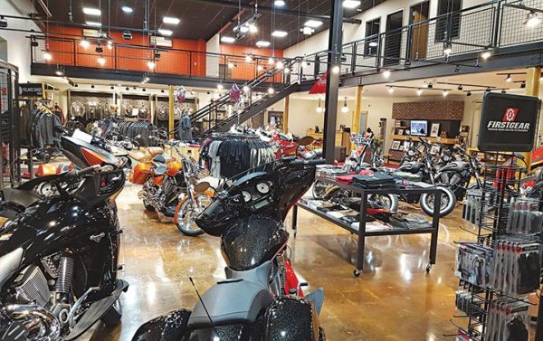 Rollin' Fast Cycle Sports of Lebanon, N.J., now has a showroom that is triple the size of the previous one.