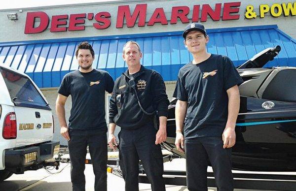 Dee's Marine & Powersports in Clinton Township, Mich., has done brisk Sea-Doo business for years as a single-line BRP dealer. Here, the Macomb County Sherriff's Department's Marine Division picks up a pair.