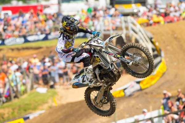 Anderson enjoyed the best finish of his 450 Class career. Photo credit: Simon Cudby.