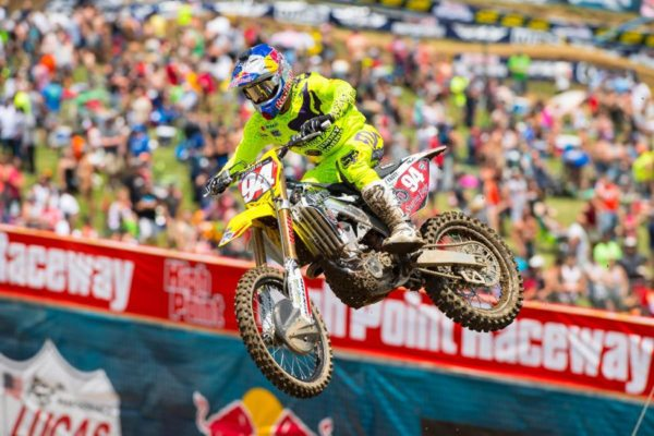 Roczen has three overall victories and has won seven of eight motos. Photo credit: Simon Cudby