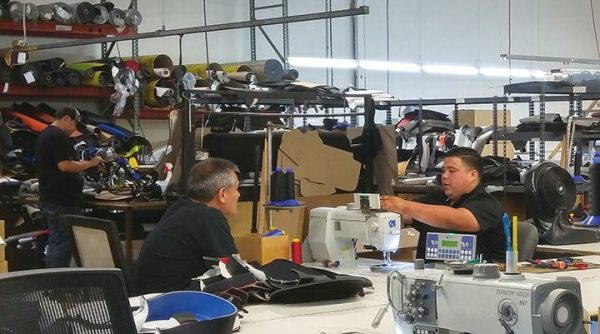 PRP's seats are sewn on site at the company's Temecula, California, headquarters.