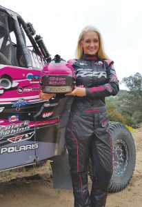 Polaris factory racer Kristen Matlock placed third in her first Baja 500 as a driver.