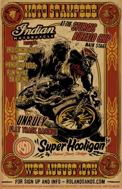 Sturgis Super Hooligan Event Poster