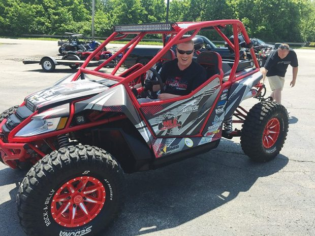 A customer of MLS Powersports in Georgetown, Ky., won a Wildcat makeover in a contest.
