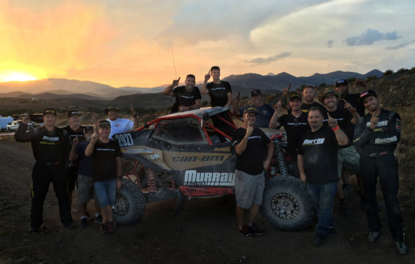 The Murray Racing team made history Saturday in the Nevada desert, earning the first-ever win with brand new Maverick X3 super sport side-by-side vehicle at the Vegas To Reno Best In The Desert race.