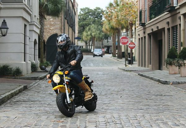 The 28-inch seat height appeals to a variety of riders, from 6-foot-4 Bintelli Scooters employee Jackson Haskell, shown here riding the RT50, to 5-foot-2 PSB managing editor Liz Keener.