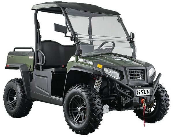 HISUN's all-new Sector E1 electric UTV features technology that is designed for longer run times.