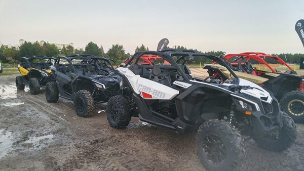 The Maverick X3 comes in the 64-inch base model (white), the 64-inch X3 X ds (triple black or Circuit Yellow), or the 72-inch X3 X rs (triple black or Gold and Can-Am Red).