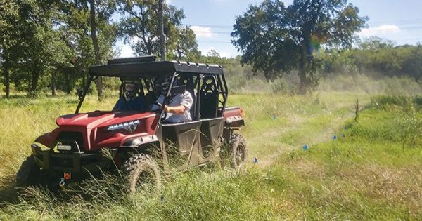 Dealers demoed ODES side-by-sides and ATVs at Texas MasterCraft's private lake facility in Fort Worth, Texas.