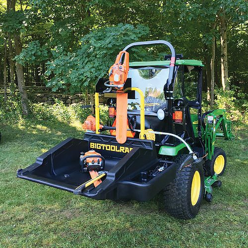 Bigtoolrack's attachment works for tractors or ATVs.