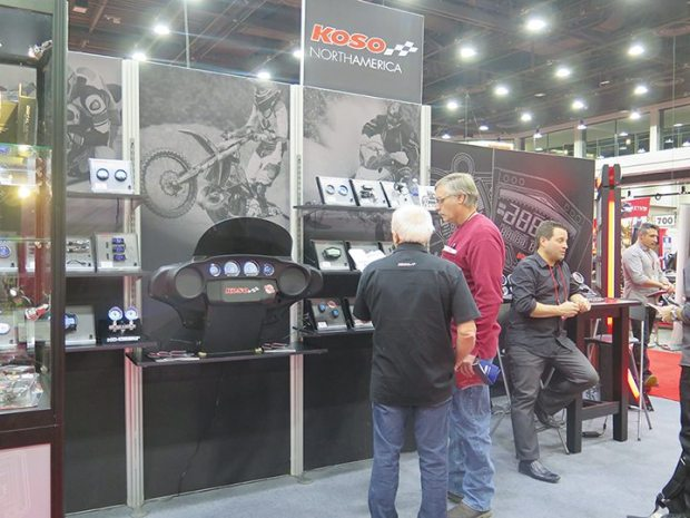 Koso North America debuted its V-twin instrument line at V-Twin Expo in Cincinnati.