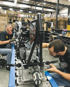 Monster Moto employs 40-60 staffers at its Ruston, facility, depending on seasonality.