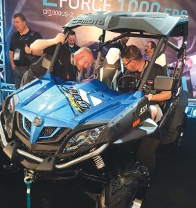 CFMOTO unveiled the ZForce 1000 EPS Sport UTV during its U.S. dealer meeting in Hangzhou, China.