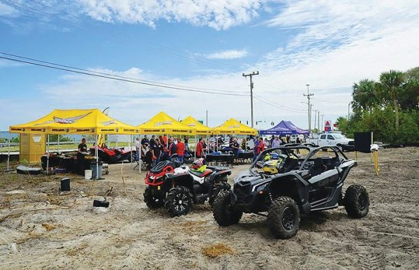 ATVs and side-by-sides were used during the Route 1 Motorsports groundbreaking to showcase their capability and to make the event unique.