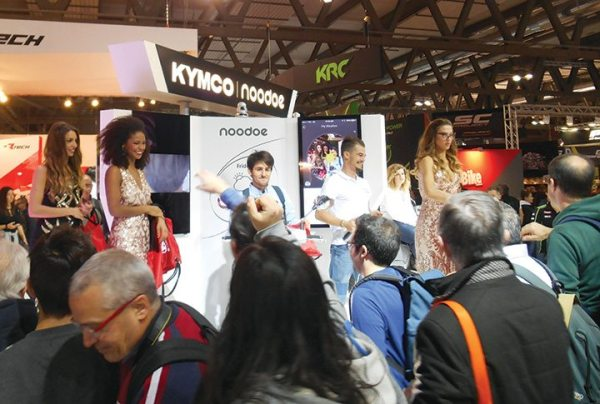 KYMCO's models were glad to hand out swag bags to the interested consumers.