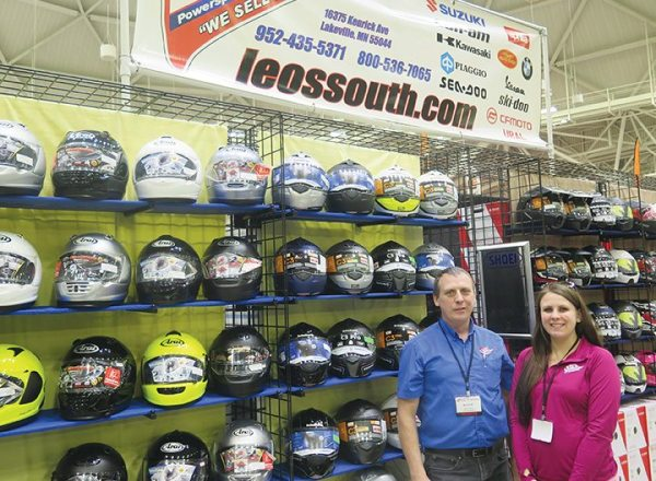 Leo's South of Lakeville, Minnesota, was on hand, selling helmets and other PG&A.