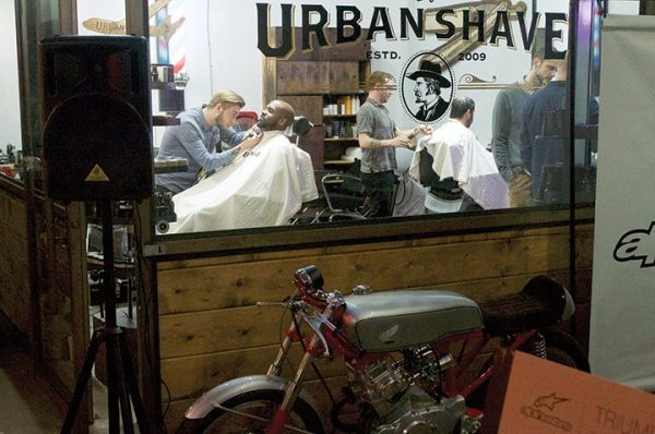 Some of the Alpinestars event crowd welcomed a fresh shave.