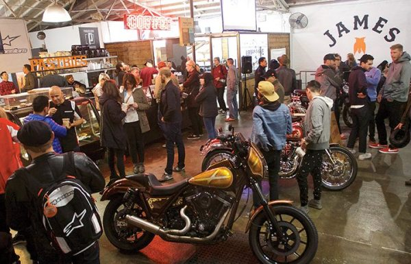 Alpinestars turned to The Space at James Coffee in San Diego to launch its latest products. The location provided an ideal setting that brought together a range of folks who love all things motorcycle.