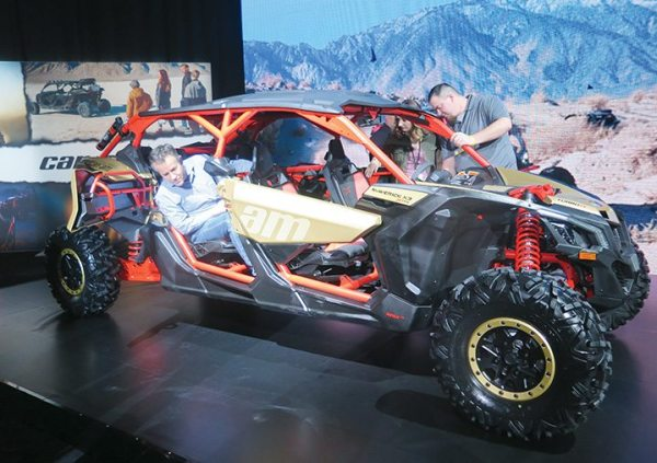 Dealers were quick to step into the new four-passenger Maverick X3 MAX at Club BRP in Reno, Nevada, in February.
