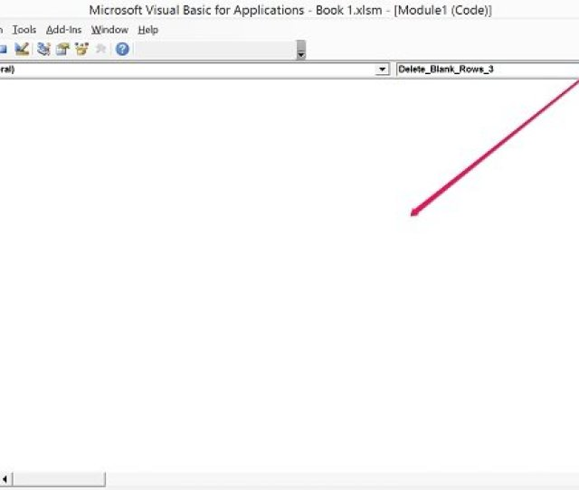 Programming Window In Visual Basic Editor