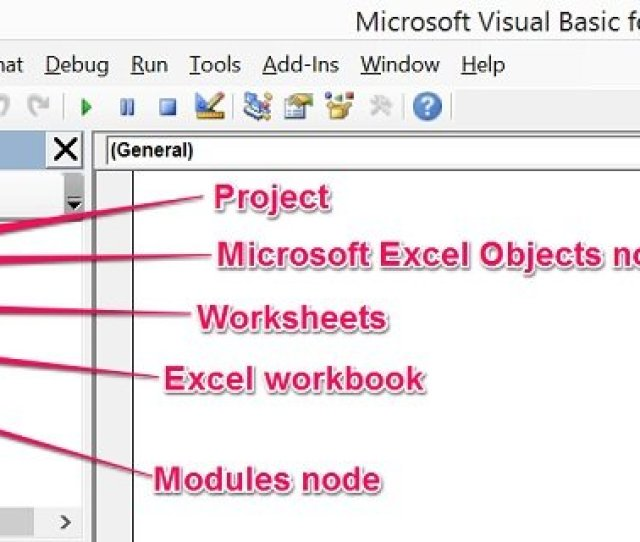 Explanation Of Project Explorer In Vbe