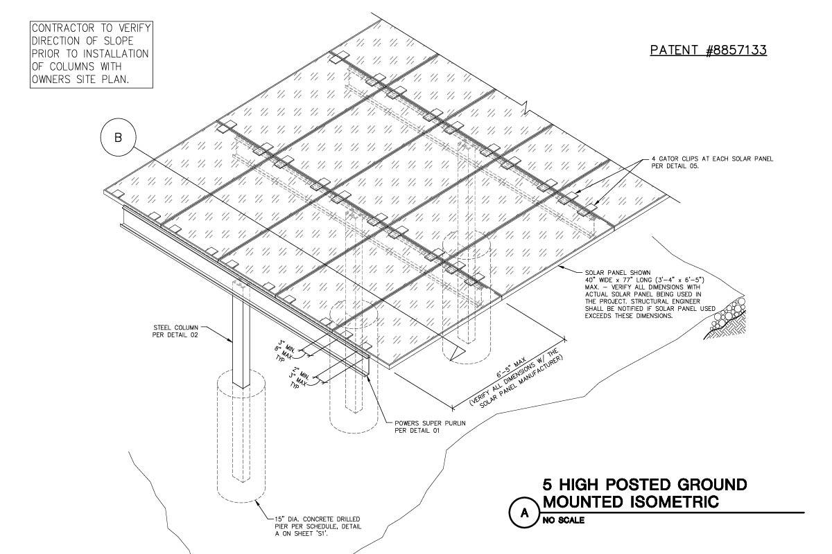 5 Panel Ground Mount Engineering