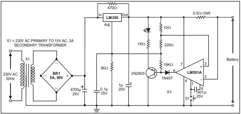 12 volt relay schematic volt battery charger schematic diagram
