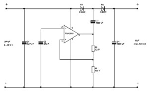 21V from 12 V DC to DC Converter